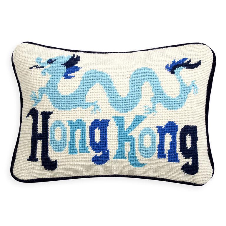 Holding Category - Hong Kong Jet Set Needlepoint Cushion