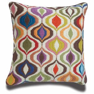 Cushions & Throws - Multi Bargello Waves Cushion