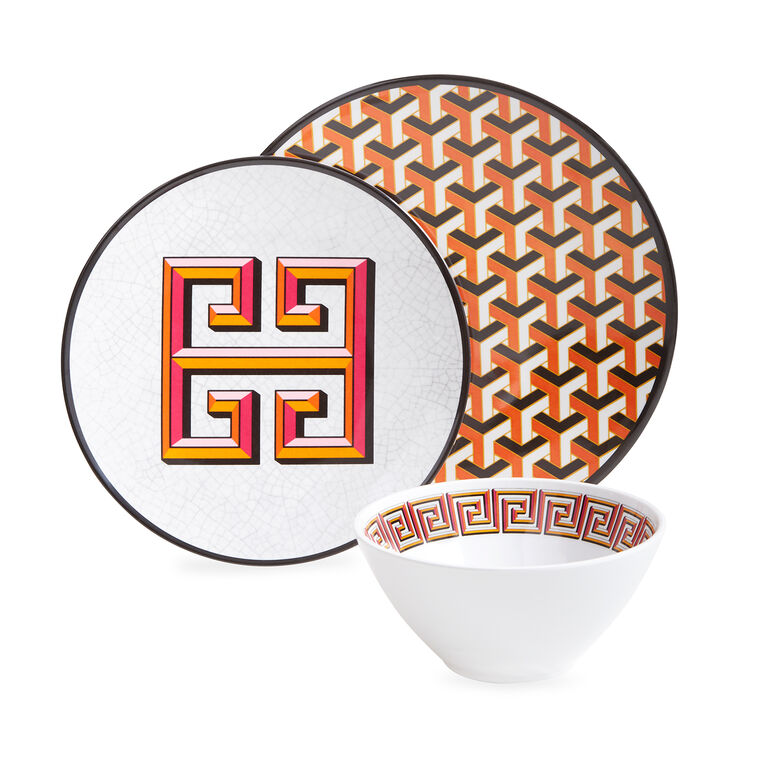 Dinnerware - Orange Mykonos Melamine Bowl