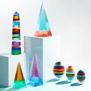 Decorative Objects - Stacked Acrylic Obelisk