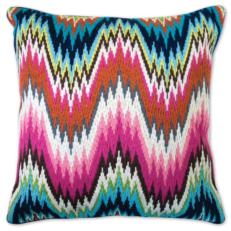 Cushions & Throws - Worth Avenue Bargello Cushion