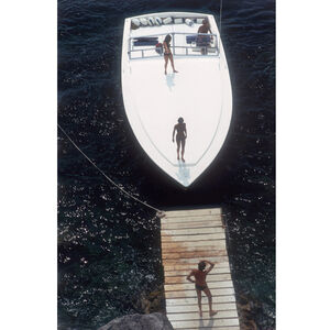 "Art - Slim Aarons ""Speedboat Landing "" Photograph"