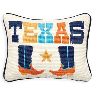 Cushions & Throws - Texas Jet Set Needlepoint Cushion