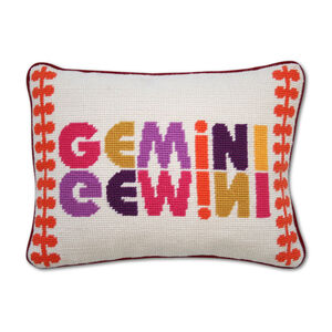 Cushions & Throws - Gemini Zodiac Needlepoint Cushion