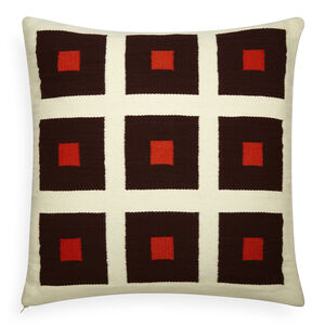 All Bedding - Reversible Orange/Chocolate Peter Pop Throw Pillow