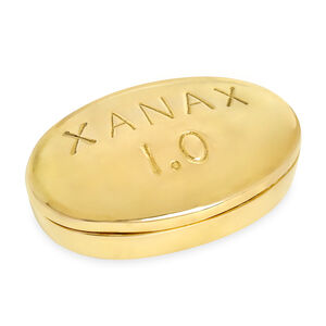 Brass Objects - Xanax Brass Pill Box