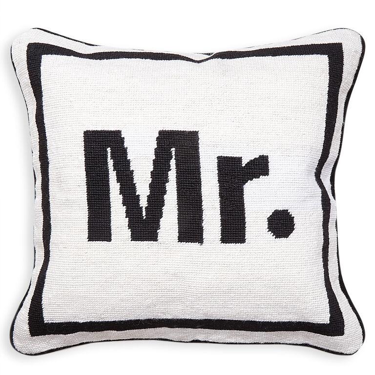 Holding Category - Mr. Needlepoint Cushion