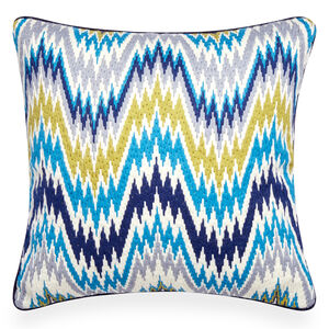 Cushions & Throws - Turquoise Bargello Worth Avenue Throw Pillow