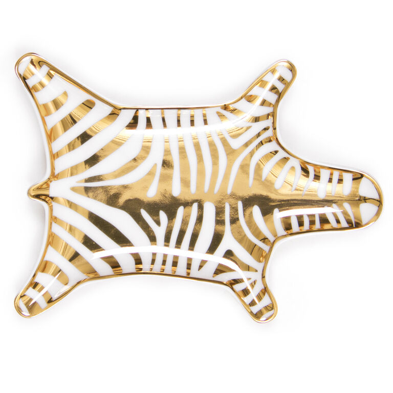 Bowls & Trays - Gold Carnaby Zebra Stacking Dish