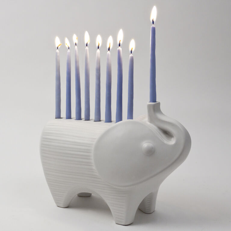Candle Holders - Menagerie Elephant Menorah