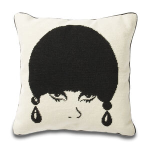 Cushions & Throws - Mod Model Needlepoint Cushion