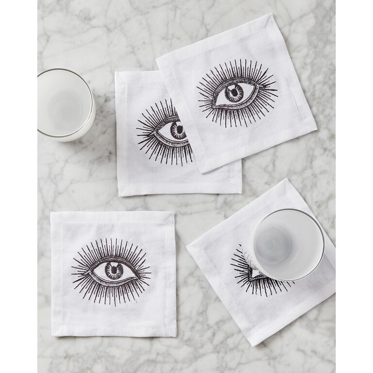 Placemats & Napkins - Eyes Linen Napkin Set