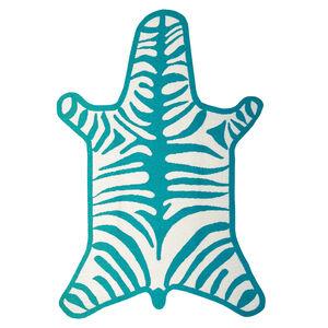 Peruvian Llama Flat Weave - Zebra Peruvian Llama Flat Weave Rug
