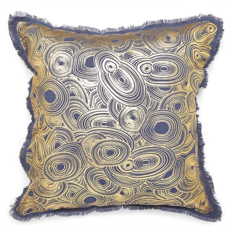 Cushions & Throws - Gilded Malachite Cushion