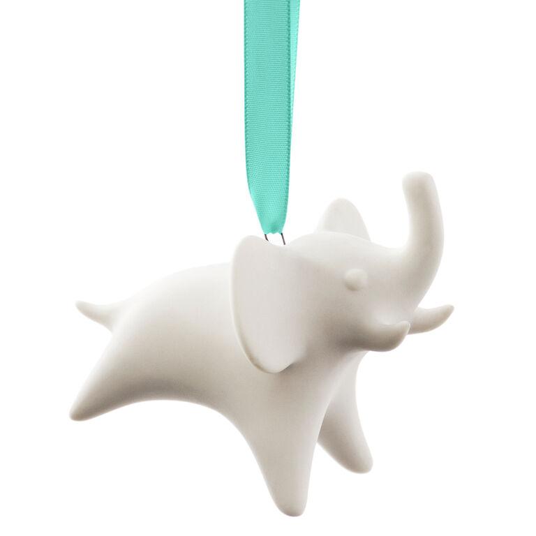 Ornaments - Porcelain Elephant Ornament