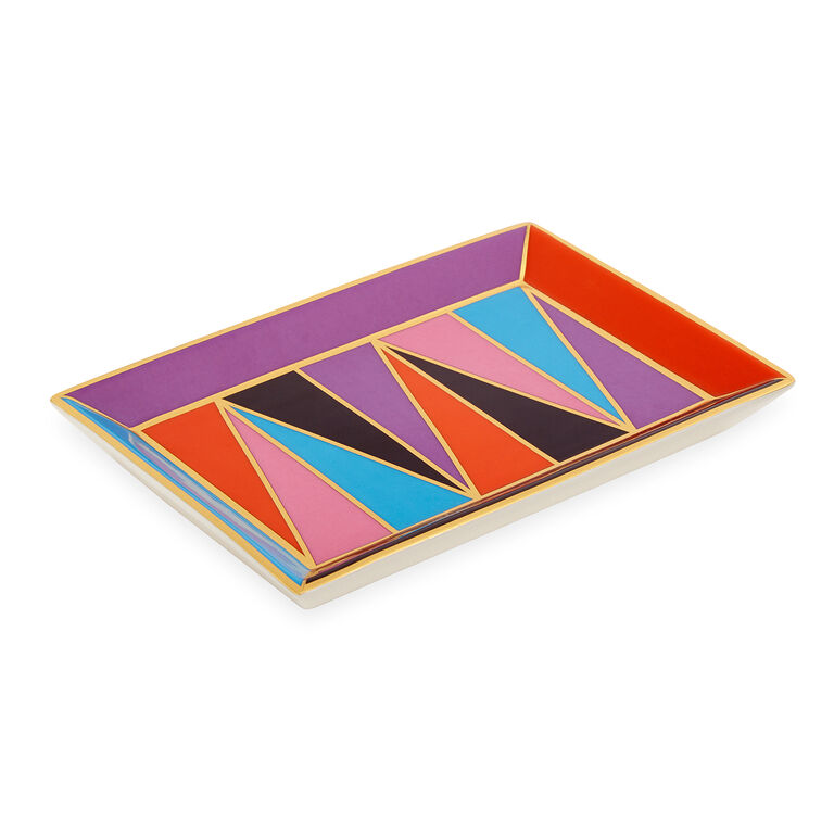 Bowls & Trays - Harlequin Rectangle Tray