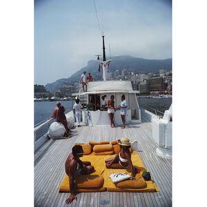 "Art - Slim Aarons ""Scotti's Yacht"" Photograph"
