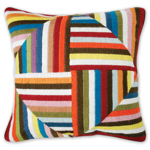Cushions & Throws - Multi Bargello Windmill Cushion