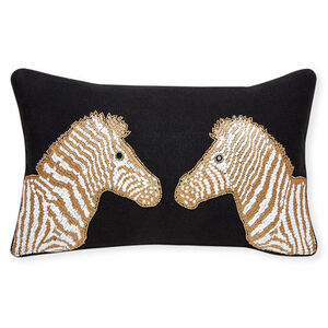 Cushions & Throws - Animalia Beaded Zebra Cushion