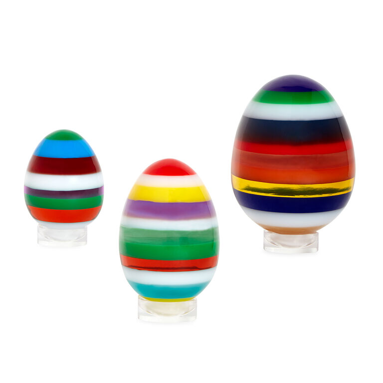 Decorative Objects - Medium Stacked Acrylic Egg