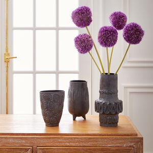 Vases - Brutalist Footed Vase