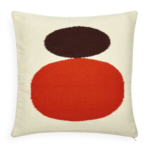 All Bedding - Reversible Orange/Chocolate Mother/Child Pop Throw Pillow