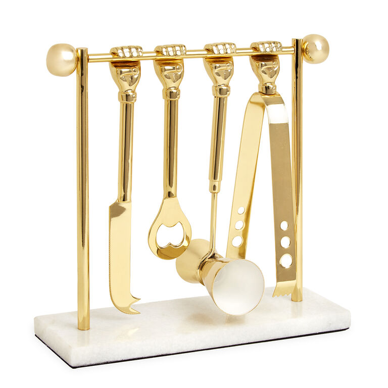 Holding Category - Barbell Barware Set
