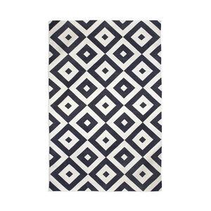 Indian Kilim Flatweave - Black Gio Kilim Flat Weave Rug