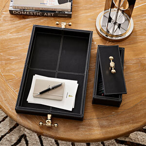 Storage & Organizing - Barbell Leather Tray