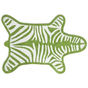 Bath Accessories - Green Reversible Zebra Bathmat