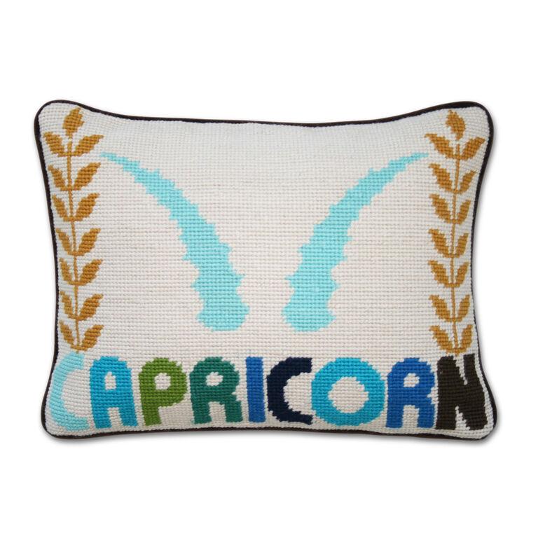 Cushions & Throws - Capricorn Zodiac Needlepoint Cushion