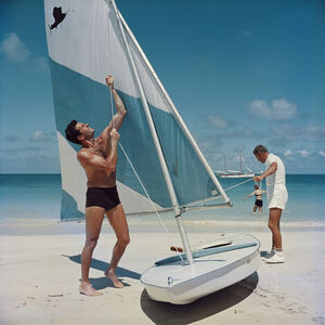 "Slim Aarons - Slim Aarons ""Boating in Antigua"" Photograph"