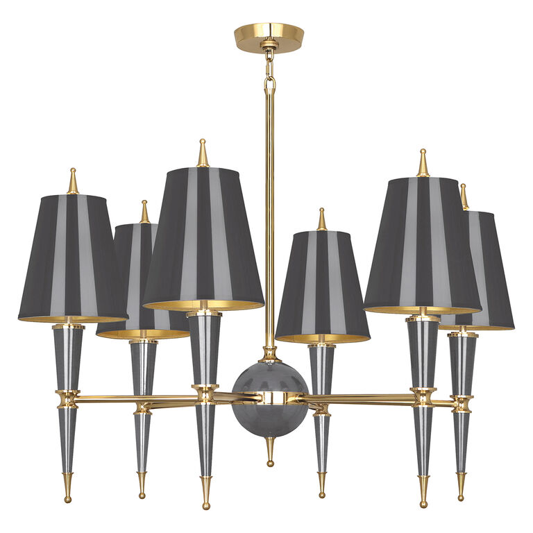 Chandeliers - Versailles Chandelier with Painted Shade
