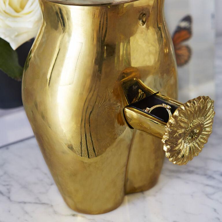 Décor & Pillows - Brass Edie Ring Box