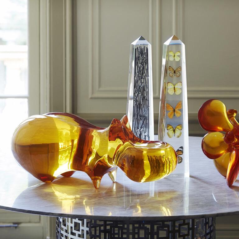 Acrylic Objets - Acrylic Hippo Sculpture
