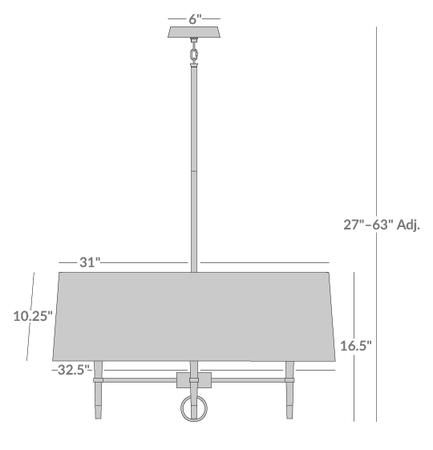 Ventana Single-Tier Chandelier Isometric 1