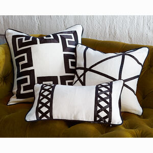 Textured & Embellished - Positano Greek Key Throw Pillow
