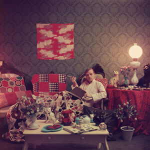 "Slim Aarons - Slim Aarons ""Capote at Home"" Photograph"