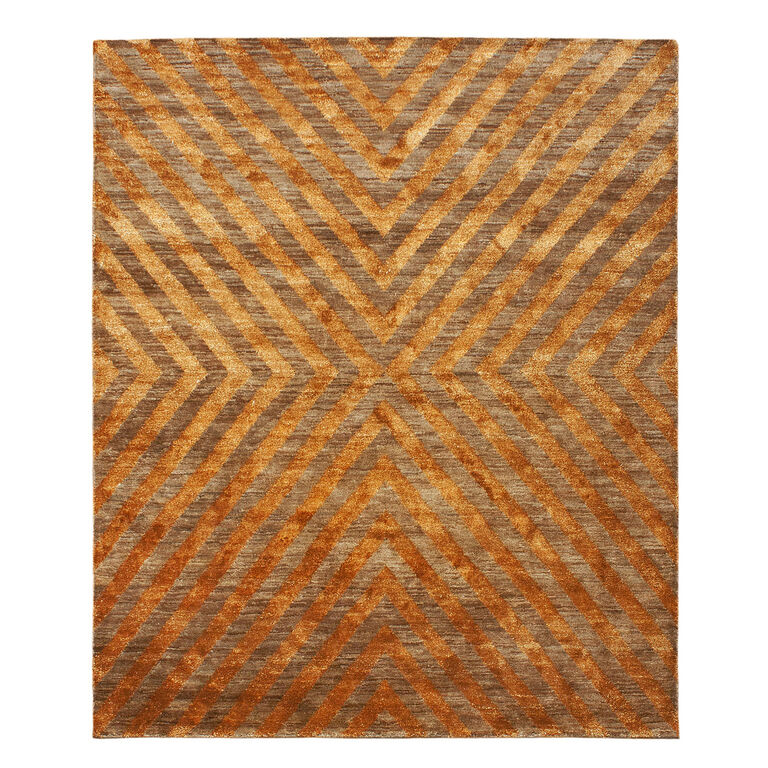 Jonathan Adler for Kravet - Jonathan Adler For Kravet Orange Bridget Area Rug