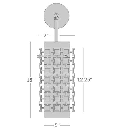 Parker Pendant Sconce Isometric 2