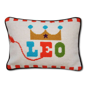 Needlepoint - Leo Zodiac Needlepoint Throw Pillow