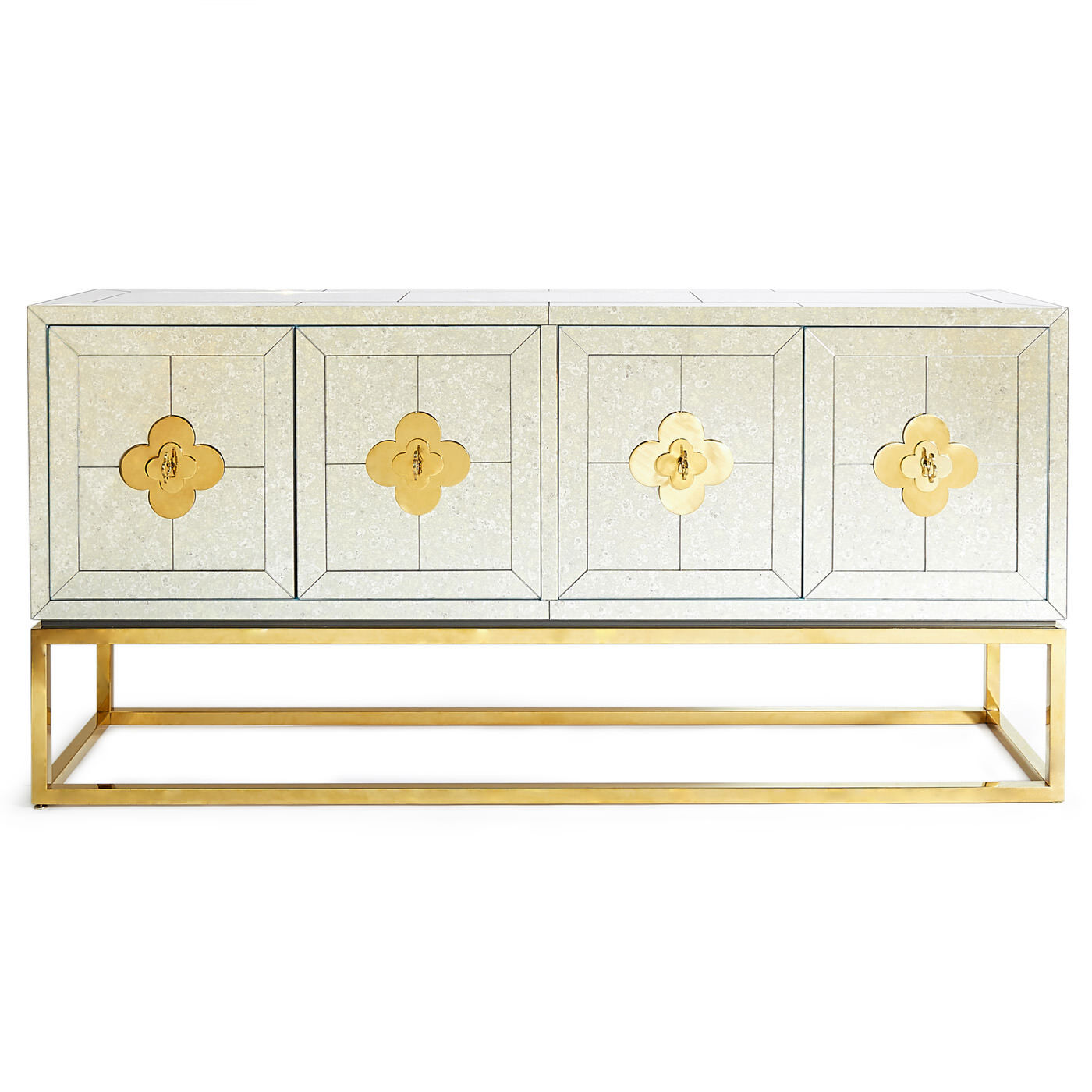 Delphine Mirrored Credenza Modern Furniture Jonathan Adler
