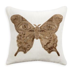 Textured & Embellished - Muse Butterfly Throw Pillow
