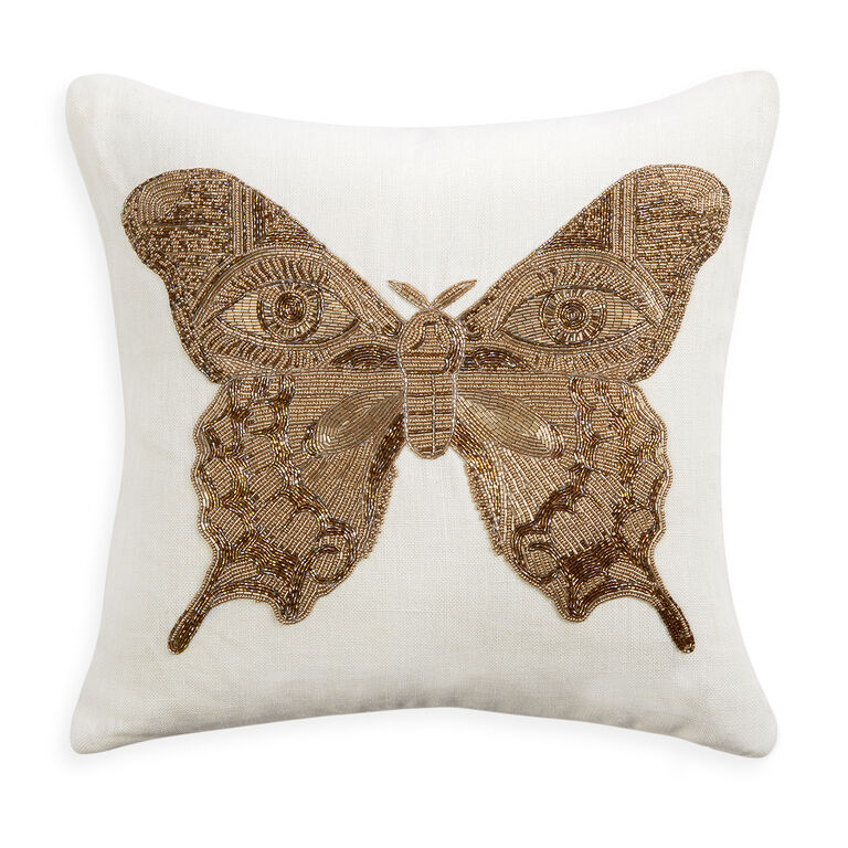Muse Embellished Butterfly Pillow 18 X 18 Jonathan Adler