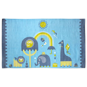 JA JR. - Blue Junior Printed Rug
