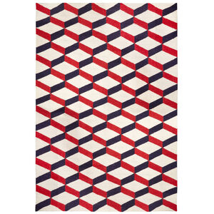 Peruvian Flat Weave - Red Lorenzo Reversible Peruvian Llama Flat Weave Rug