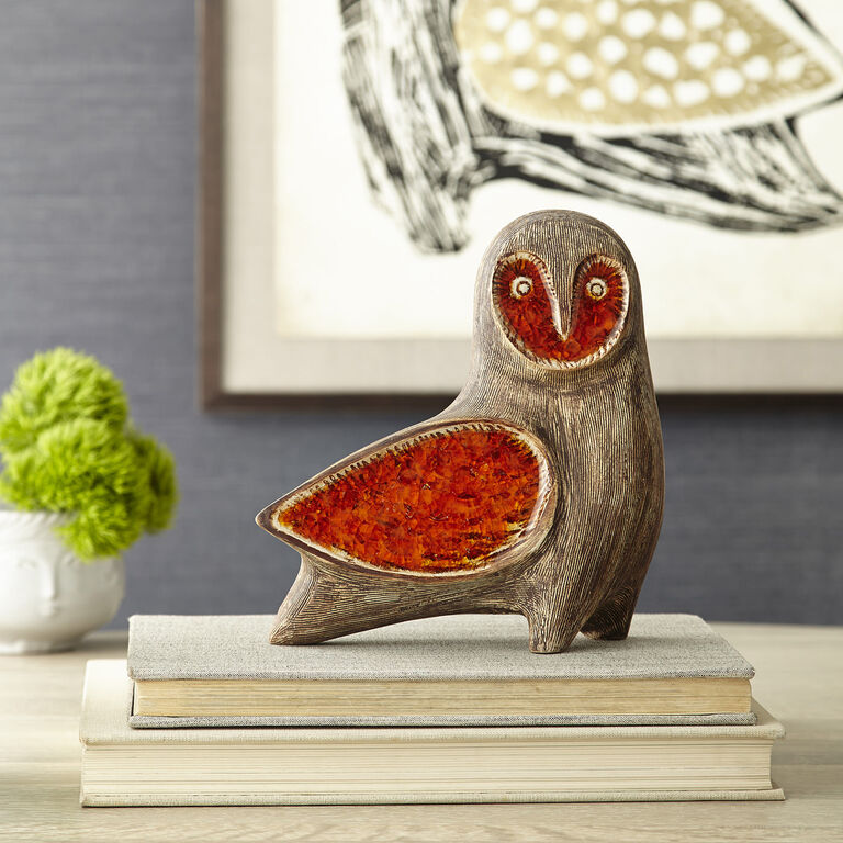 Holding Category for Inventory - Glass Menagerie Barn Owl
