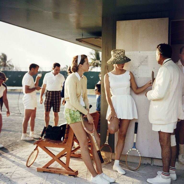 "Slim Aarons - Slim Aarons ""Tennis in The Bahamas"" Photograph"