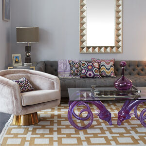 Patterned - Lavender Bargello Diamonds Throw Pillow
