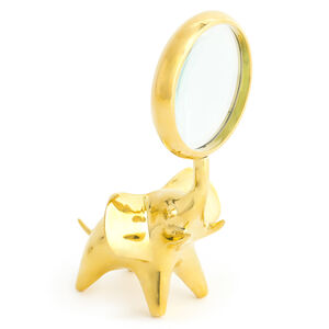 Brass Objets - Brass Elephant Magnifying Glass